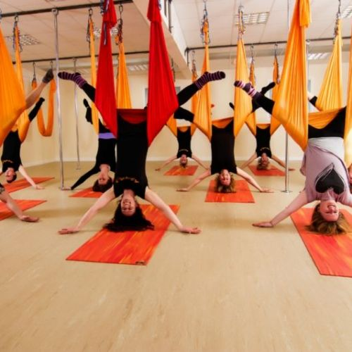 aerial yoga - inverted