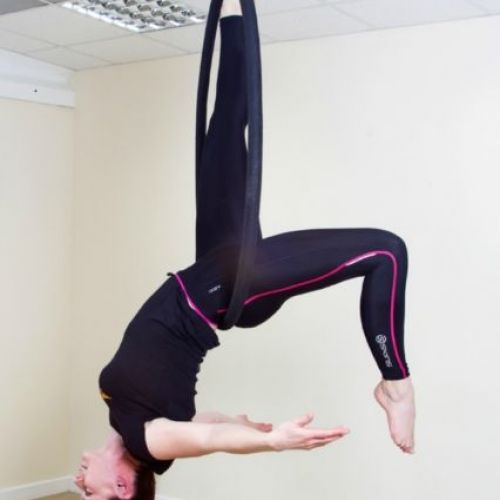 aerial hoop - single leg back balance