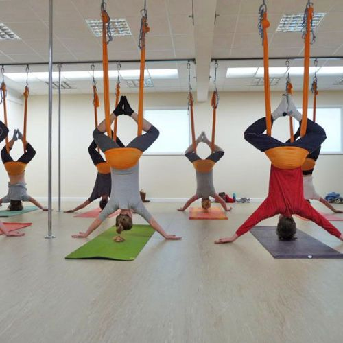 aerial yoga - inverts - just hanging