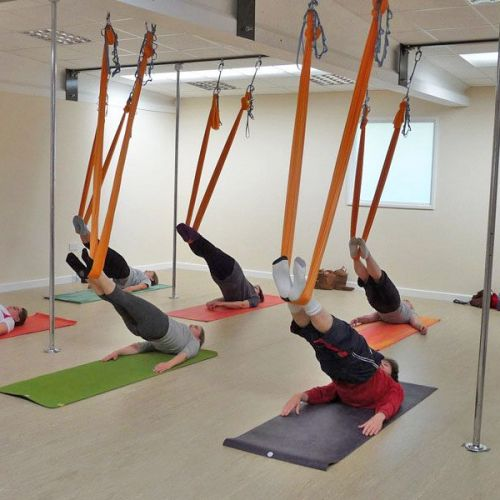 aerial yoga - core work